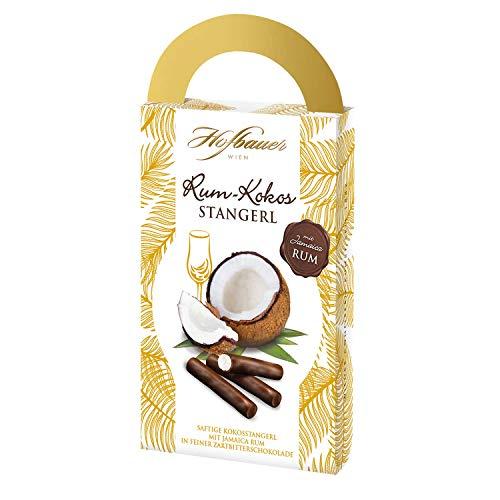 Hofbauer Wien Rohkost Rum-Kokos Stangerl, Kokos mit Rum und Schokolade überzogen, 250 g