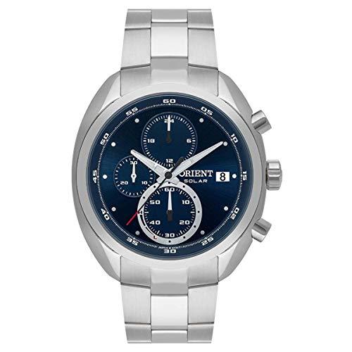 Relógio Orient Masculino Ref: Mbssc217 D1sx Cronógrafo Solar Prateado