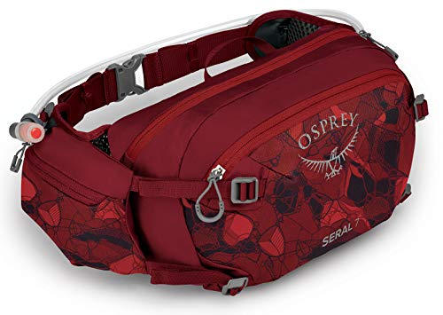 Osprey Seral 7 Mochila multideporte Unisex, Rojo (Claret Red), Talla O/S