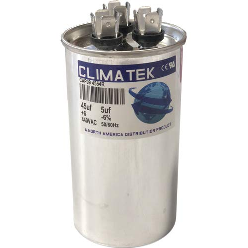 ClimaTek Round Capacitor - fits Packard # TRCFD455 PRCFD455 | 45/5 uf MFD 370/440 Volt VAC