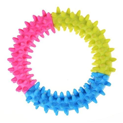 NiceButy Kauring für Haustiere, Hunde, aus Kautschuk für die Zahnbildung, Spielzeug, ungiftig zur Reinigung der Zähne, zufällige Farbgebung.