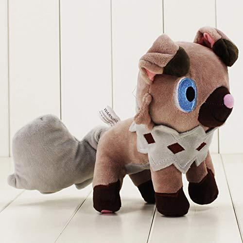 WQSD 20 cm Rockruff muñeco de Peluche de Dibujos Animados de Juguete de Piel Suave Anime Perro Animal muñeco de Peluche Rockruff Adecuado para Regalos de niños