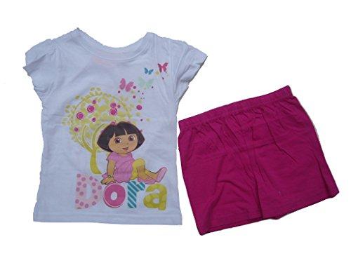 Dora the Explorer Shorty (98/104 ca. 4 Jahre, weiß/pink)
