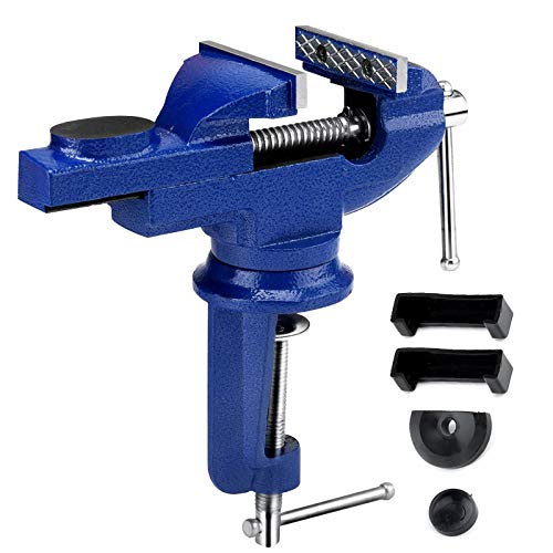 XINRUI Table Vice, 3 Inch Bench Vise Woodworking Clamp with 360°Swivel...