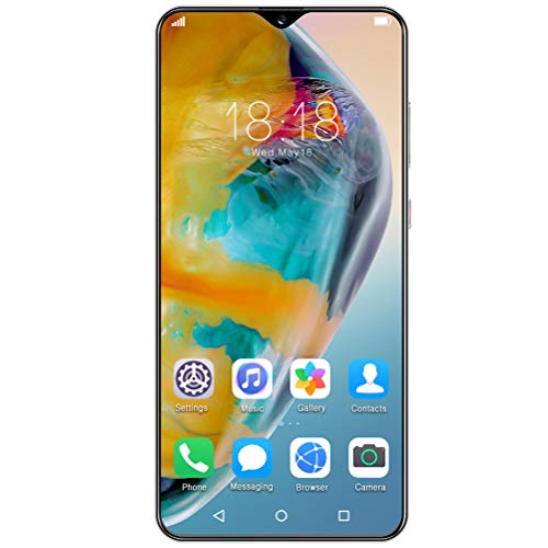 ZXYSR P40 Pro Powerbank Handy 48000 Mah, 7,0 Zoll Wassertropfen Sieb MTK6799 Prozessorsmartphone 13MP + 24MP Pixel Fingerabdruck Hinten Entsperren 6 GB + 64 GB, Handy,Schwarz