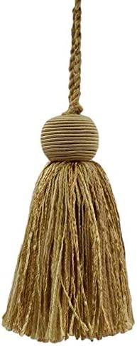 70% OFF Outlet DÉCOPRO Set of 10 Decorative 4 Camel inch Tassel Straw Columbus Mall Beige H