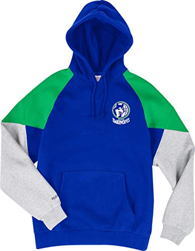 Mitchell & Ness Minnesota Timberwolves Royal Green Trading Block Hoody Hoodie Sweater Herren Mens