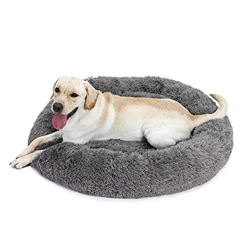 XHNXHN Cojín para Cama de Perro con Funda Desmontable, sofá de Felpa Suave y cálido para Cachorros, Cesta Redonda para Perros pequeños, medianos y Grandes, para Dormir/Descansar/Relajarse