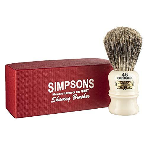 Simpson Shaving Brushes Berkeley 46 - Best Badger Handmade British Shaving Brush by Simpson Shaving Brushes (Berkeley 46 Pure)