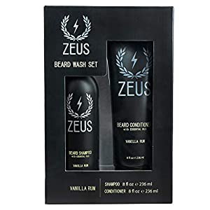 ZEUS Men's Beard Shampoo & Beard Conditioner Set – US MADE – Soften, Hydrates, & Moisturizes, Prevents Itching & Flaking… 5