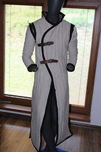 NASIR ALI Medieval Celtic Viking Gambeson Short Sleeves 3 Colors Renaissance Surcoat SCA LARP
