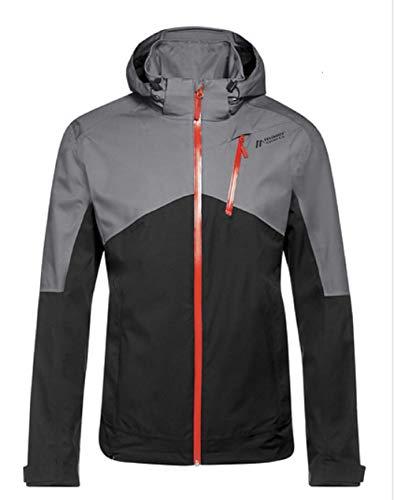 Maier Sports Herren Luzon Funktionsjacke, Black/Silver fili, 50