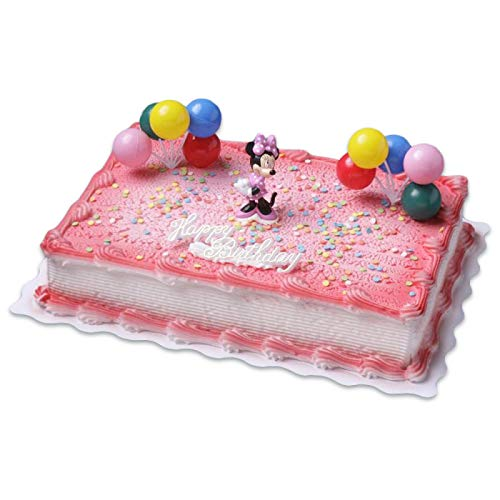 Cake Company Tortendekoration Minnie Maus mit Luftballons und Zuckerstreusel