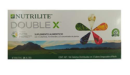 Vitaminas Y Minerales Nutrilite Double X Refill, 186 Tabletas en 3 Sobres al Vacío (Sin Estuche) Contiene 12 Vitaminas, 10 Minerales y 22 Fitonutrientes.