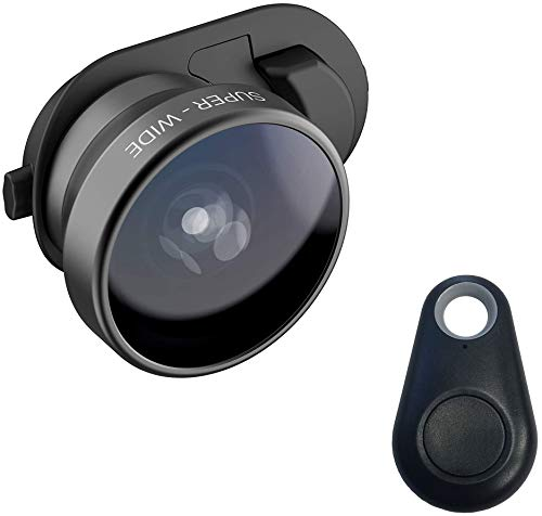 Olloclip Multi-Device Clip with 3-in-1 Essential Lens Kit Includes Fisheye + Super Wide Angle + Macro - Compatible with iPhone 11, Pixel and Samsung Galaxy Smartphones + Selfie Bluetooth Remote
