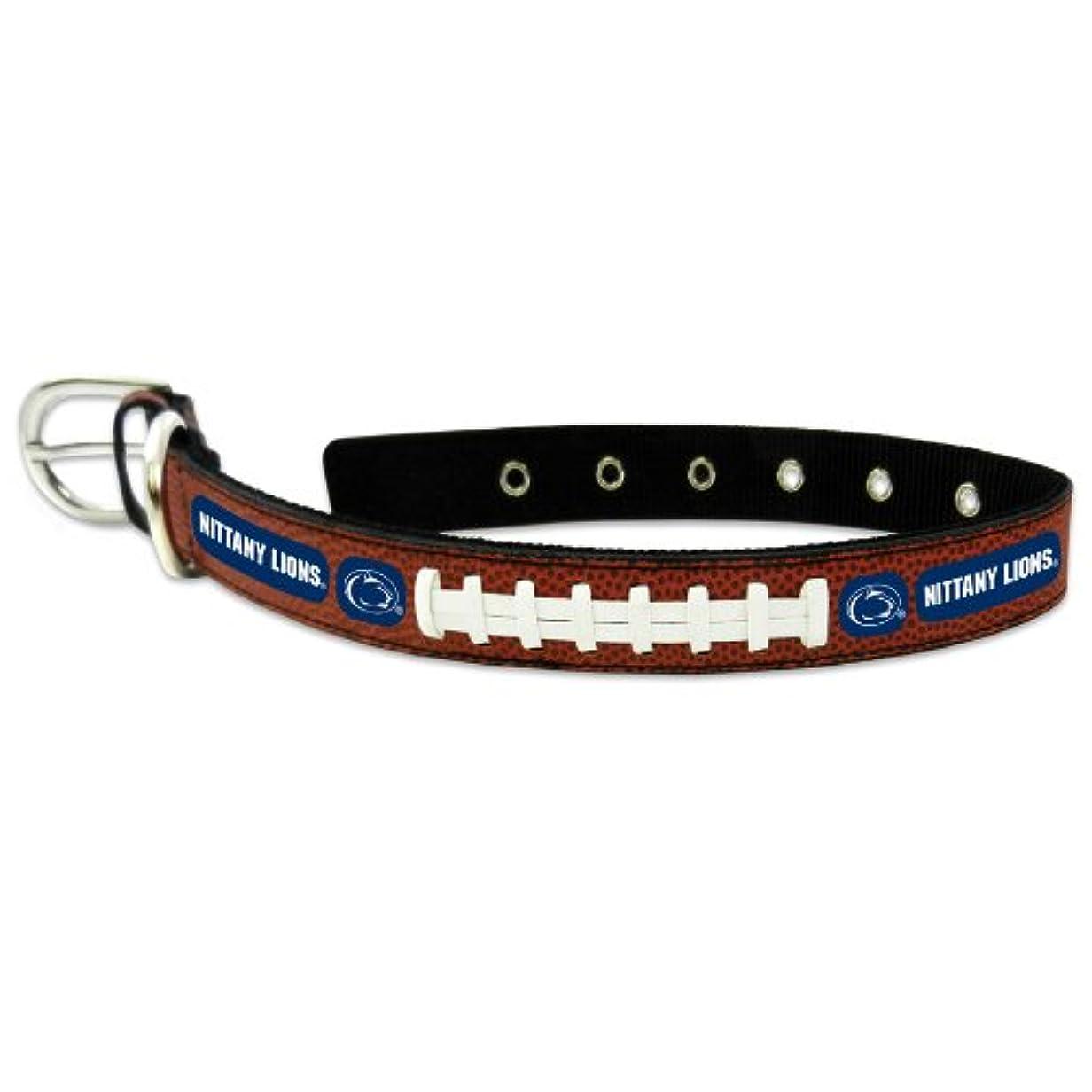 ひいきにするジュラシックパーク効果Penn State Nittany Lions Classic Leather Large Football Collar