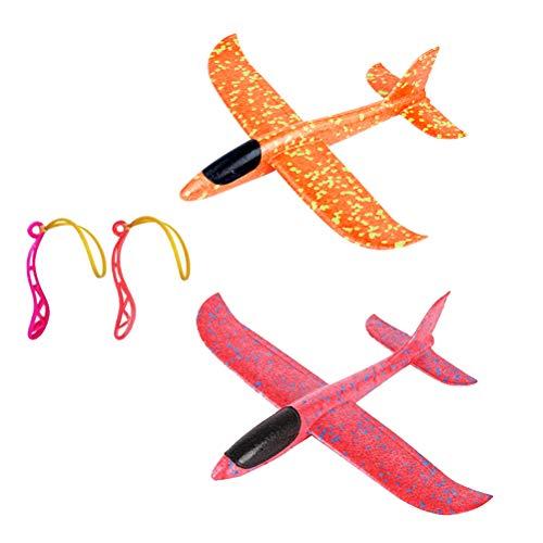 Toyvian Plane Glider Avión Lanzar Espuma Aviones Deportes Al Aire Libre Volar...