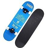 ZYR 31 Pouces Skateboard Complet Longboard Double Kick Skate Board Cruiser 7 Layer Maple Deck pour Sports Extrêmes Et Plein Air,d