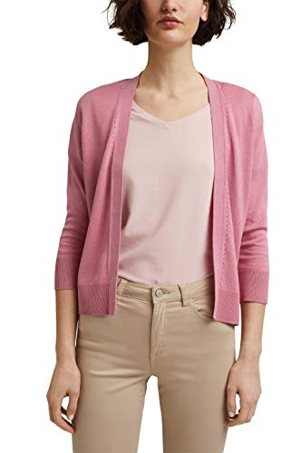 Esprit 041EE1I310 Suéter cárdigan, 670/rosa, M para Mujer