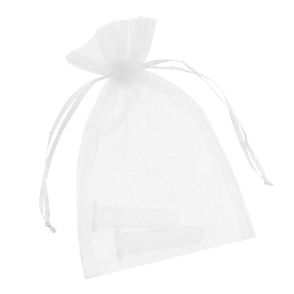 外交官一節借りるFLAMEER 2個 真空顔用 シリコーン マッサージカップ 吸い玉 マッサージ カッピング 収納ポーチ付き 全2色 - ホワイト