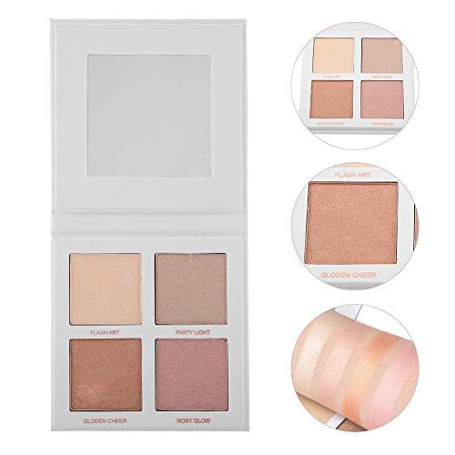 Paleta de sombra de ojos, herramienta de cosméticos para el contorno de la cara que ilumina el polvo del resaltador