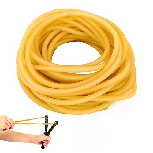 Ledoo Tubo in Lattice Elastico, Banda in Lattice da Caccia da 10 m Utilizzare per assemblare fionde da Caccia Professionali, Tubo in Gomma in Lattice Naturale ha Una buona uniformità di Elasticità