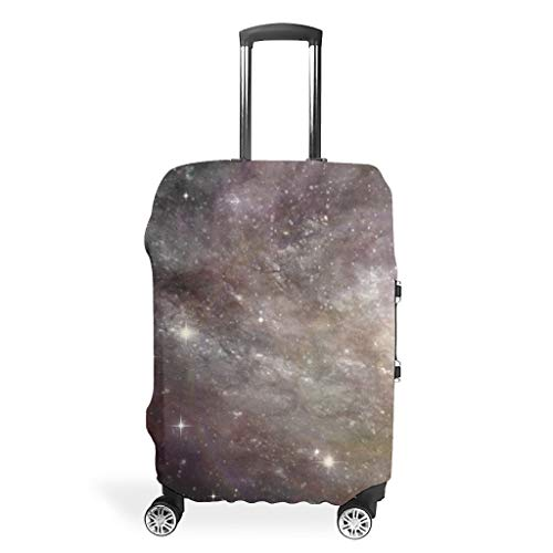 Galaxy Travel Luggage Case Cover – Mist Unique Luggage Cover 4 Sizes Fit Most Trolleys, White (White) - Bannihorse-scc
