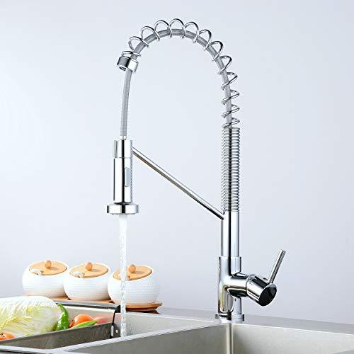 Kitchen Faucet Single Handle Lever Chrome Finish