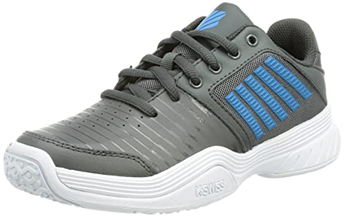 K-Swiss Court Express Omni, Scarpe da Tennis, Dark Shadow White Swedish Blue, 30 EU