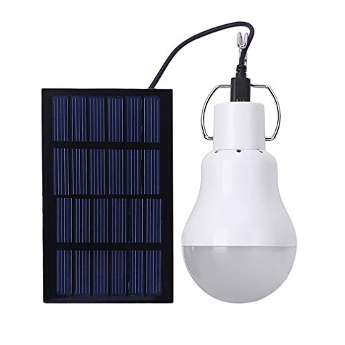 No-branded PDHCC Solar Powered LED Lamp Light With High Temperature And Shatter Resistance For Housing Outdoor Activities Emergency Solar Light (Color : White, Size : One Size)
