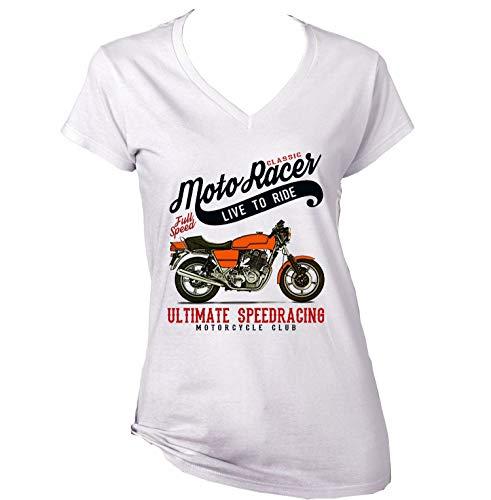 Teesandengines Laverda jota 1000 Classic Moto Racer Ultimate Speed Racing Camiseta para Mujer de Algodon Size Xlarge