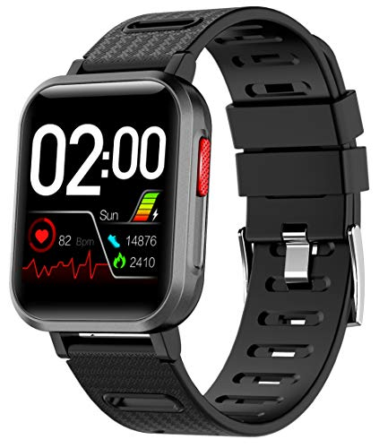 Scozer Smartwatch Compatible, IP68 Waterproof Personal GPS Tracker, Fitness Tracker Watch with Blood Pressure Monitor, Full Touch Screen, Birthday Gift for Women Men