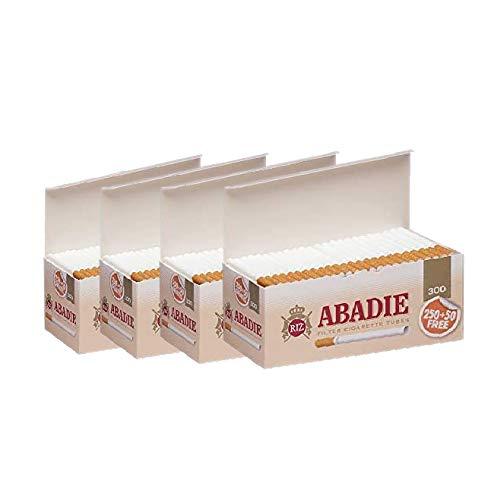 ABADIE 1200 Tubos Vacíos con Filtro de 15mm Para Tabaco de Liar (4 cajas de 300), Fabricado en España