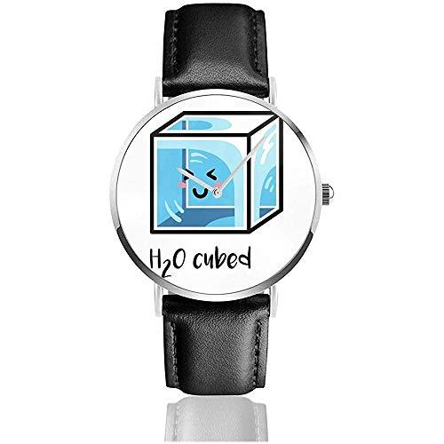 Unisex Business Casual H2O Cubed Uhren Quarz Leder Uhr