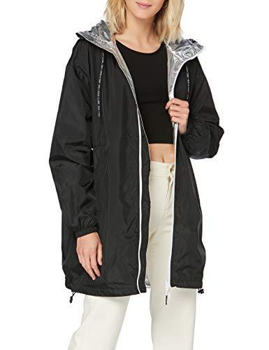 Replay Damen W7549 .000.10257 Mantel, Mehrfarbig (Black&Silver 30), Large (Herstellergröße: L)
