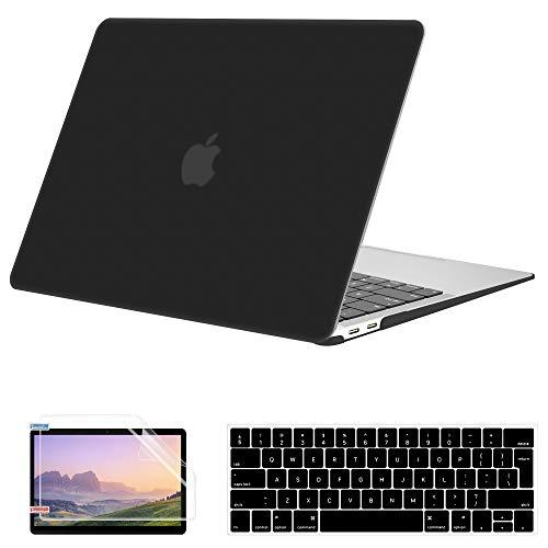MacBook Pro 13 Pulgadas Funda 2020-2016 Versión A2338 M1 A2289 A2251 A2159 A1989 A1706 A1708, JGOO Carcasa Dura Mate con Protector de Pantalla, Cubierta de Teclado para MacBook Pro 13, Negro