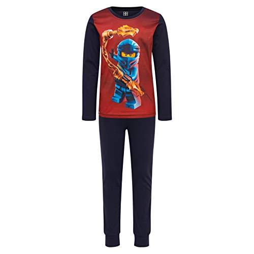 LEGO Jungen CM-50449-PYJAMAS Zweiteiliger Schlafanzug, Blau (Dark Navy 590), (Herstellergröße: 104)