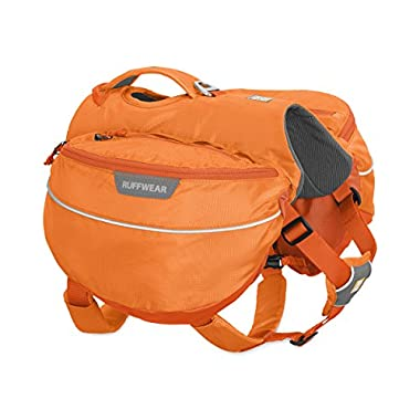 RUFFWEAR - Approach Full-Day Hiking Pack for Dogs, Orange Poppy, Medium
