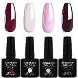 Allenbelle Esmaltes Permanentes Para Uñas Nail Art Soak Off UV LED Esmalte Permanente de gel (Lot 4 pcs 7.3ML/pc) 044