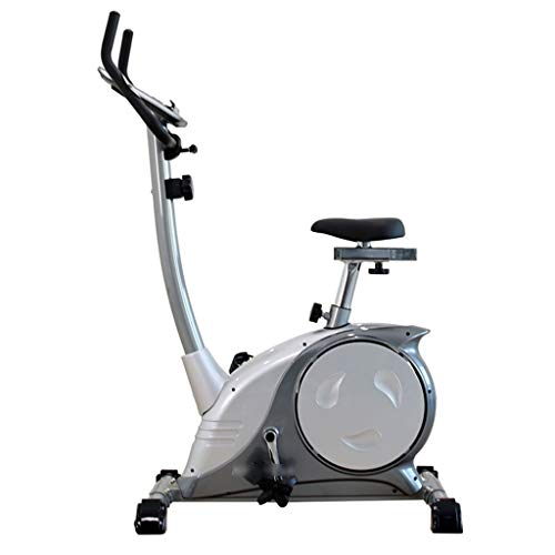 Exercise Bikes Exercise Bikes for Gyms Magnetic Controlled Spinning Bikes Cross Trainer Machines for Home Use 8-Speed Resistance (Color : Silver, Size : 92 * 60 * 137cm)