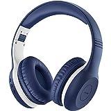 Mpow CH6 Plus - Auriculares para niños (Bluetooth, Plegables, 85 dB, Clavija AUX de 3,5 mm, micrófono Incorporado, Compatible con teléfono móvil/PC/iPad/tablets/TV/MP3/4, Asistente de Clase)