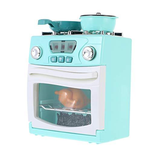 GARNECK Ofen und Herd, Spielzeug aus Kunststoff, Rollenspiel, Haushaltsgerät, Topf mit realistischen Lichtern, für Neugeborene, Kleinkinder, ohne