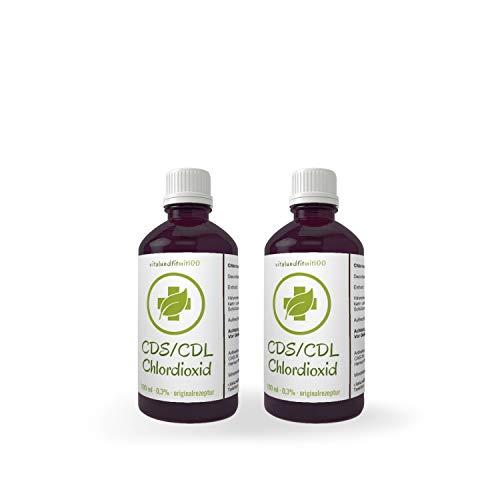 vitalundfitmit100 2X 100 ml Chlordioxid Lösung 0,3% - in Violett-Glasflasche - CDs/CDL - Chlordioxidlösung nach Originalrezeptur - Made IN Germany - Jetzt zum Megapreis!
