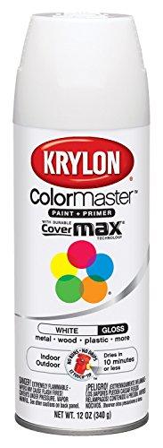 Krylon K05150107 ColorMaster Paint + Primer, Gloss, White,...