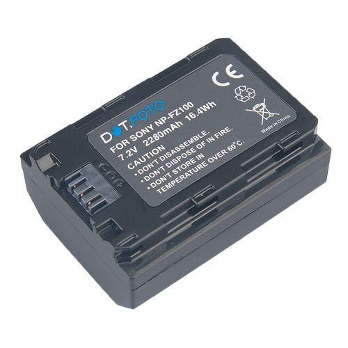 Dot.Foto NP-FZ100 PREMIUM Vervangende oplaadbare camerabatterij voor Sony - 7.2v / 2280mAh - 2 jaar garantie for Sony Alpha ILCE-7M3, ILCE-7 Mark III, ILCE-7RM3, ILCE-7R Mark III, ILCE-9