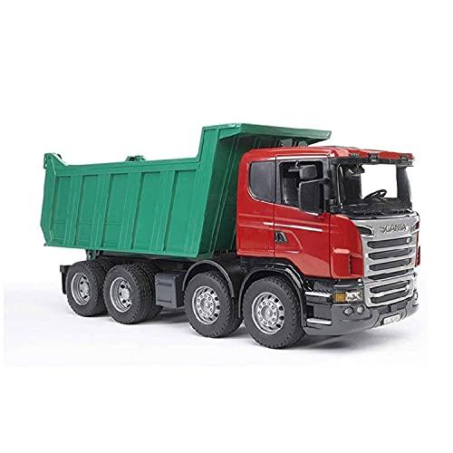 Bruder 03549 - Scania R-Serie Tiertransport-LKW mit einem Rind