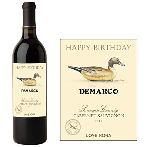 Etiqueta personalizada para botella de vino de California para cumpleaños, familia, cualquier BL239