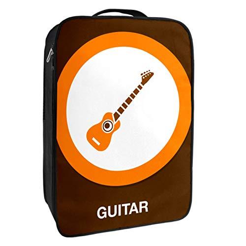 Schuh-Aufbewahrungsbox für Reisen und den täglichen Gebrauch, Gitarren-Icon-Schuh-Organizer, tragbar, wasserdicht bis zu 12 Meter, mit doppeltem Reißverschluss und 4 Taschen.