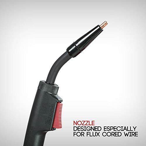 KICKINGHORSE F130 UL-Certified Flux Core Gasless MIG Welder 120V. 130A Highest Efficiency 40K Hz IGBT Inverter Run-off US Home 15/20A Breaker. Ideal for Beginners and Home Maintenance/Auto Repair