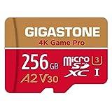 【5年保証 】Gigastone Micro SD Card 256GB A2 V30 マイクロSDカード UHS-I U3 Class 10 100/80 MB/S 高速 Gopro アクションカメラ スポーツカメラ 4K Ultra HD 動画 micro sd カード 動作確認済 SD変換アダプタ付 ミニ収納ケース付 w/adapter and case Nintendo Switch